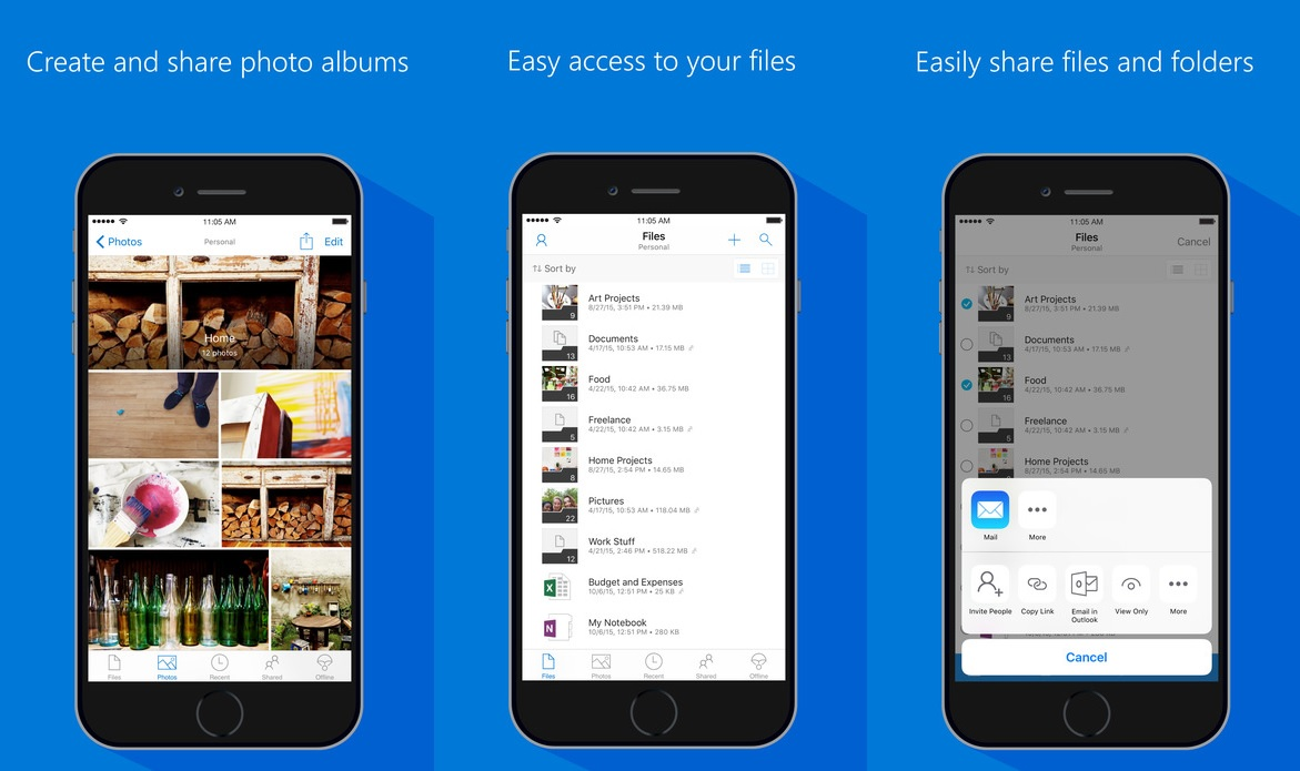 SharePoint Online and OneDrive Business smartphone apps for mobile collaboration